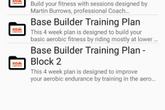Workout folders